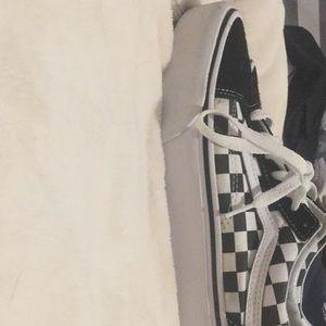 Platform Checkered Vans